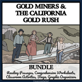 CALIFORNIA GOLD RUSH - Reading Comprehension, Activities, Bingo