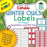 BUNDLE CHRISTMAS WINTER Labels Classroom Notebook Folder Name Tags (Editable)