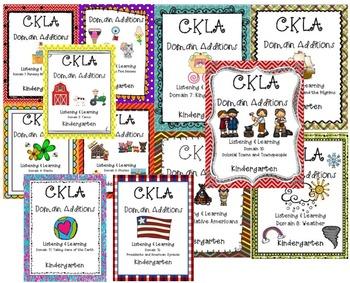 BUNDLE: CKLA Kindergarten Listening and Learning Domains 1-12