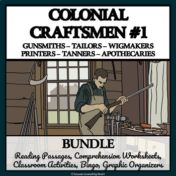 BUNDLE- COLONIAL AMERICAN TRADESMEN AND CRAFTSMEN, Part 1
