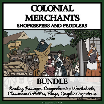 BUNDLE- COLONIAL MERCHANTS, SHOPKEEPERS AND PEDDLERS