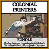 COLONIAL PRINTERS AND PUBLISHERS - Reading Comprehension, Activities and Bingo