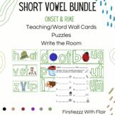 BUNDLE--CVC Short Vowel (Puzzles, Word Cards, Write the Room)