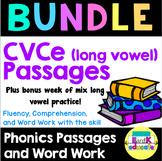 BUNDLE: CVCe Long Vowel Passages and Word Work plus BONUS week!