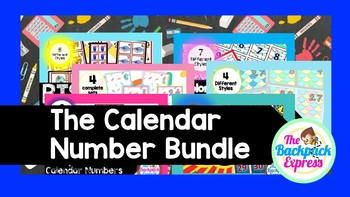 GROWING BUNDLE Calendar Pieces Colorful Flags, Monopoly Themed, and Super hero