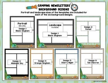 BUNDLE: Camping Theme Newsletters and Editable Signs