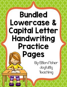 BUNDLE Capital and Lowercase Handwriting Practice