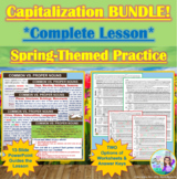 BUNDLE: Capitalization Spring-Themed Interactive PowerPoin