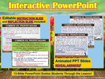 BUNDLE: Capitalization Spring-Themed Interactive PowerPoint & Worksheets