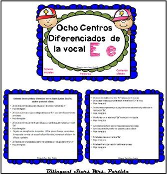 """BUNDLE Centros de las 5 Vocales """"Aa Ee Ii Oo Uu"""" Lectoescritura Alphabet Centers"""
