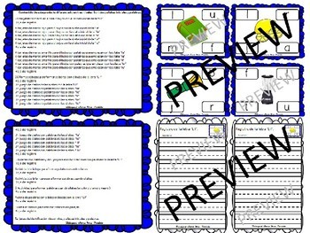 "BUNDLE Centros de las letras ""L l Dd Bb Ff"" Lectoescritura Alphabet Centers"