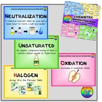 Chemistry & Physics Definitions Flash Cards
