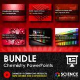 BUNDLE - Chemistry PowerPoints + Summary Notes - Distance