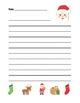 BUNDLE:  Christmas, Holiday, Winter Writing Sheets (color & black line)