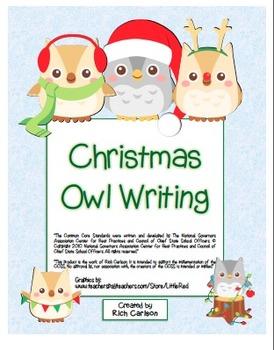 BUNDLE:  Christmas, Holiday, Winter Writing Sheets (color