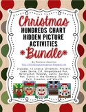 BUNDLE Christmas Hundreds Chart Hidden Picture Activities for Math