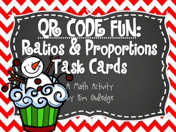 BUNDLE! Christmas Task Cards and Scavenger Hunt - Ratio & Proportions