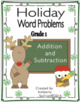 BUNDLE Christmas Winter reading comprehension passages and questions + math