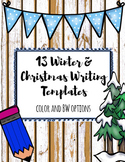 BUNDLE- Christmas and Winter Writing Templates (13 in 1)