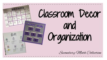 BUNDLE: Classroom Decor + Organization (Bulletin Board, Table Signs and More!)