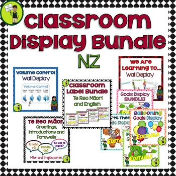 BUNDLE - Classroom Display Labels and Signs NZ