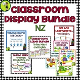 Classroom Display Labels and Signs NZ BUNDLE