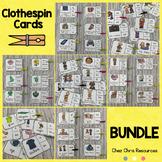 Clothespin Clip Cards BUNDLE