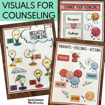 BUNDLE Cognitive Behavioral (CBT) Tools for School Counseling