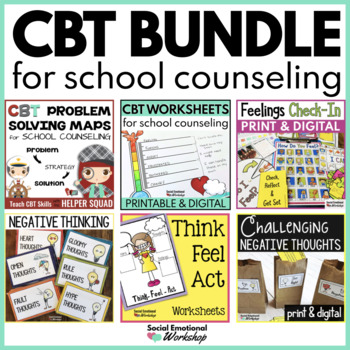 Cognitive Behavioral Therapy (CBT) Bundle for School Counseling