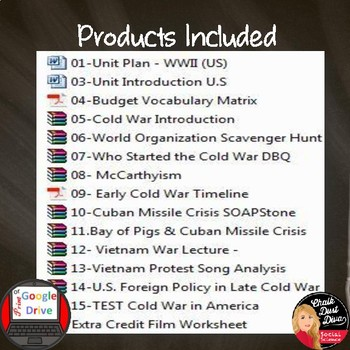 Cold War in America BUNDLE  -16 products included (Common-Core Aligned!)