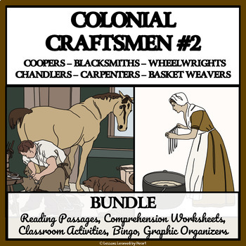 BUNDLE- COLONIAL AMERICAN TRADESMEN AND CRAFTSMEN, PART 2