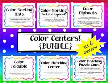 {BUNDLE} Color Center / Color Lapbook / Interactive Notebook / Color Sorting