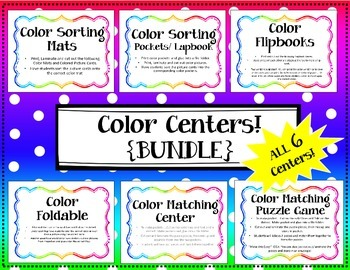 {BUNDLE} Color Center / Color Lapbook / Interactive Notebo
