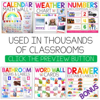BUNDLE Colorful Classroom Decor with Photographs