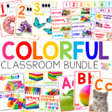 BUNDLE Colorful Classroom Decor with Photographs