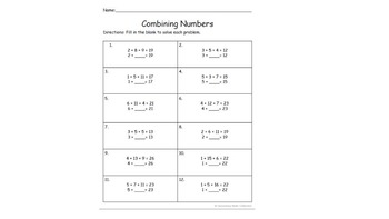 BUNDLE! Combining Numbers + The Commutative Property of Addition CCSS 1.oa.3