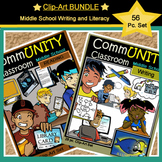 *BUNDLE*: CommUNITY Middle School Writing& Literacy Set: 56 pc. Clip Art!