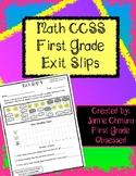 BUNDLE Common Core First Grade Exit Slips