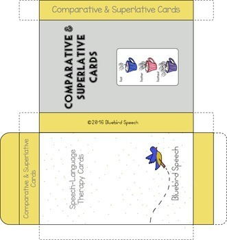 Comparative and Superlative Speech Therapy Grammar Cards: BUNDLE