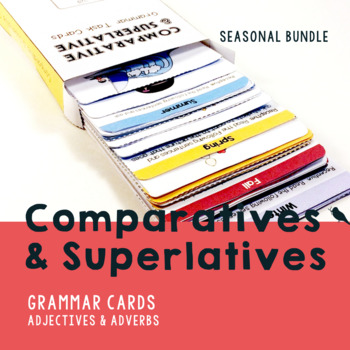 Comparative and Superlative Speech Therapy Grammar Cards - BUNDLE