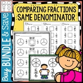 BUNDLE: Comparing Fractions Same Denominator