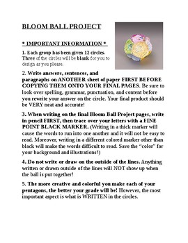 BUNDLE: Complete Bloom Ball Project