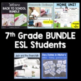 7th grade Complete Lessons BUNDLE - for ESL students