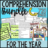 BUNDLE Reading Comprehension Passages & Questions for the ENTIRE YEAR
