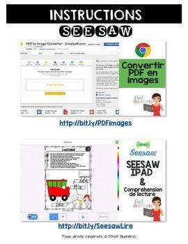 Compréhension de lecture et Colorie l'image - ENSEMBLE COMPLET
