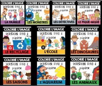 BUNDLE - Compréhension de lecture et Colorie l'image - ENS