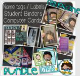 BUNDLE {Bright colors} + Binders + Labels + Cell phone car