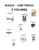 BUNDLE Core French, French as a second language, 9 volumes