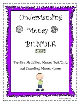 BUNDLE-Counting Money: Practice Activities, Test/Quiz, and Concentration Game!