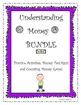 BUNDLE-Counting Money: Practice Activities, Test/Quiz, and
